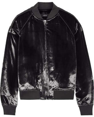 J Brand Pace Velvet Bomber Jacket - Black