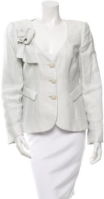 Giorgio Armani Bow-Accented Fitted Jacket $175 thestylecure.com