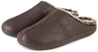 Isotoner Mens Distressed Mule Slippers