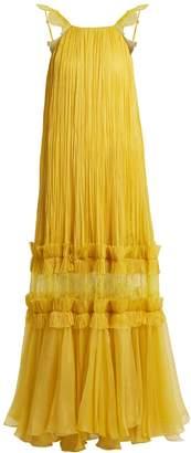 Maria Lucia Hohan Felicia pleated halterneck tulle gown
