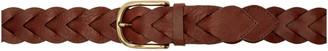 Ami Alexandre Mattiussi Brown Braided Belt