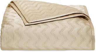 Hotel Collection Distressed Chevron Quilted Full/Queen Coverlet, Created for Macy's