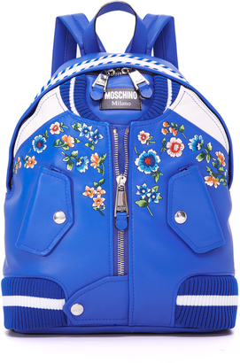 Moschino Bomber Backpack $1,595 thestylecure.com