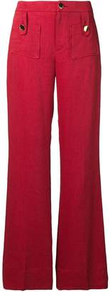 L'Autre Chose flared high-waisted trousers