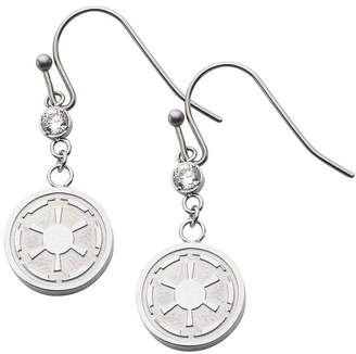 Star Wars FINE JEWELRY Stainless Steel Imperial Symbol Earrings
