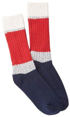 Woolrich 60 Needle Camp Colorblock Crew Socks