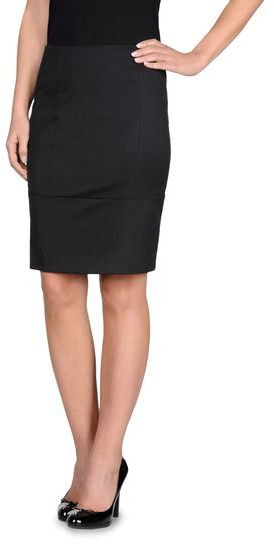 Armani Jeans Knee-Length Skirt In Stretch Techno Twill
