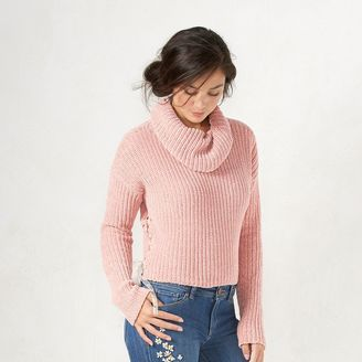 Women's LC Lauren Conrad Cropped Cowlneck Sweater $54 thestylecure.com