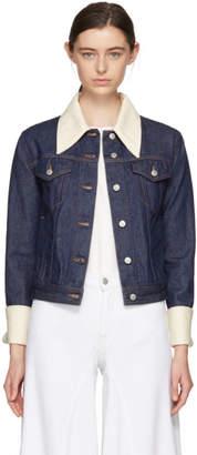 Maison Margiela Indigo Contrast Collar Jacket