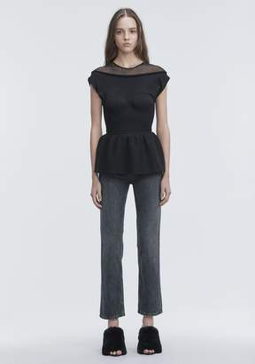 Alexander Wang PEPLUM TANK WITH MOLDED CUPS