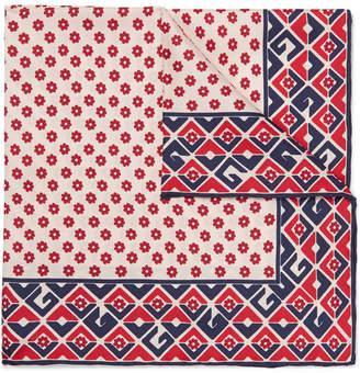 Gucci Printed Silk-Twill Pocket Square - Red