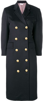Thom Browne Zibeline Finish Navy Overcoat