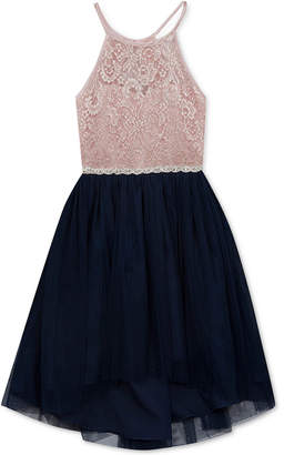 Rare Editions Big Girls Glitter Lace Dress