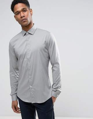 Reiss Slim Smart Shirt With Concealed Placket
