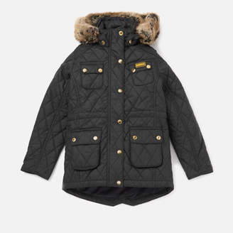 5a863f2ce4e2 Girls Black Quilted Jacket With Hood - ShopStyle UK