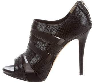 Christian Dior Snakeskin Cage Booties