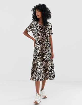 Minimum Moves By leopard print smock dress