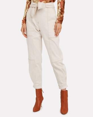Ulla Johnson Storm Cargo Tie Waist Jeans