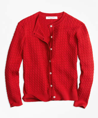Brooks Brothers Girls Long-Sleeve Mini Cable Cardigan