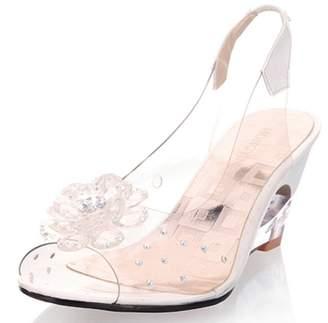 277161ccc7da5b at Amazon Canada · SaraIris Women s Peep Toe HIgh Wedge Heel Summer Shoes  Slip on Flower Decoration Sweet Sandals