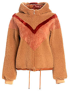 See by Chloe Men's Reversible Chevron Shearling Jacket