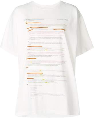MM6 MAISON MARGIELA e-mail thread print T-shirt