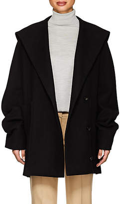 The Row Women's Ernstly Cotton-Wool Hooded Coat - Black