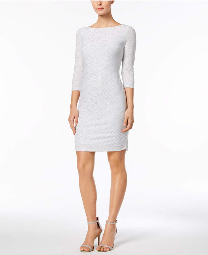 Calvin Klein Glitter-Striped Sheath Dress