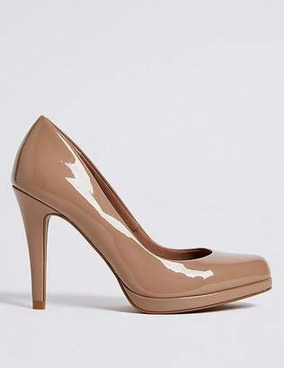Marks and Spencer Stiletto Heel Platform Skin Tone Court Shoes