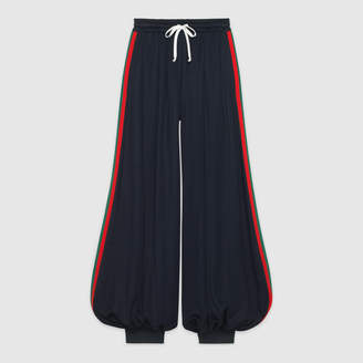 Gucci Technical jersey pant with Web