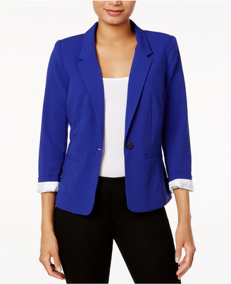 kensie Notched-Collar One-Button Blazer $89 thestylecure.com