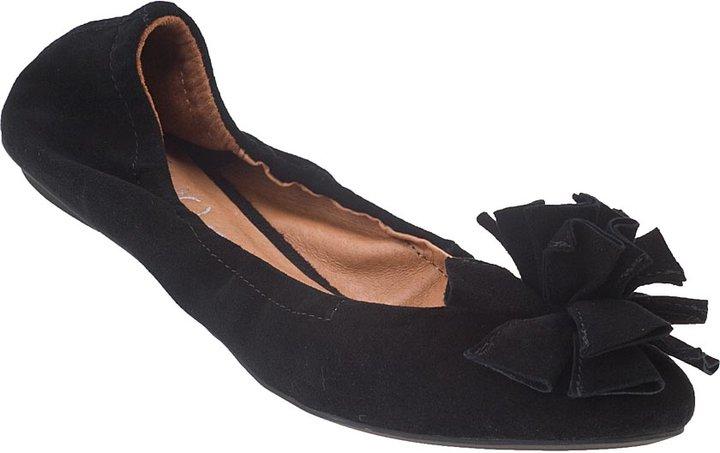 JEFFREY CAMPBELL Yuki Ballet Flat Black Suede