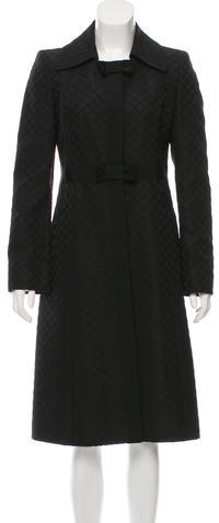 Valentino Valentino Wool Patterned Coat