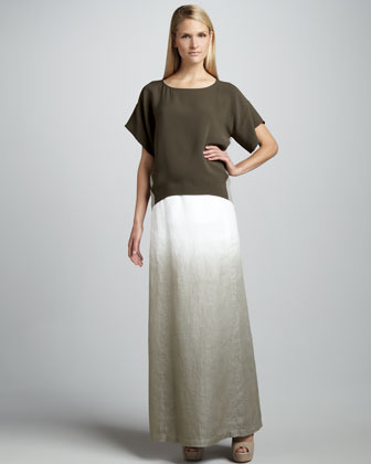 Lafayette 148 New York Hailey Ombre Linen Maxi Skirt