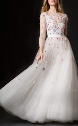 Temperley London Bridal Lucille Embellished A-line Dress