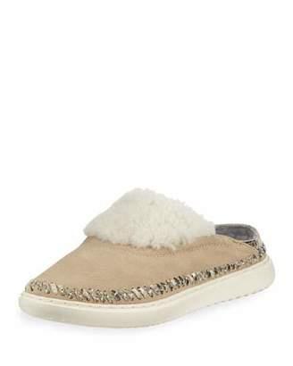 Cole Haan 2.ZeroGrand Convertible Suede Slipper Mules, Warm Sand
