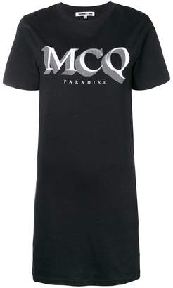 McQ logo print T-shirt dress