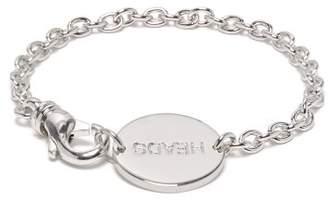 A.P.C. Engraved Bracelet - Mens - Silver