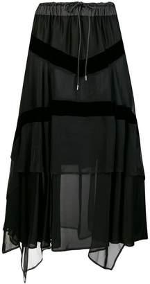 Sacai draped skirt