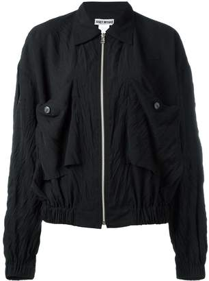 Issey Miyake Pre-Owned 'Crushed' zip front jacket