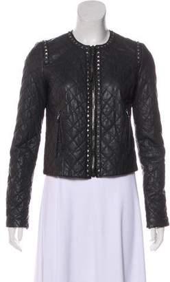 Rebecca Taylor Long Sleeve Leather Jacket