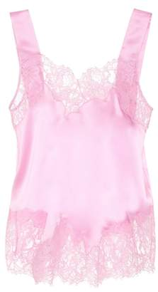 Givenchy Lace-trimmed silk camisole