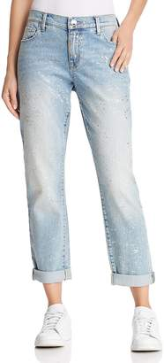 True Religion Cameron Slim Boyfriend Jeans in Chrome Constellation