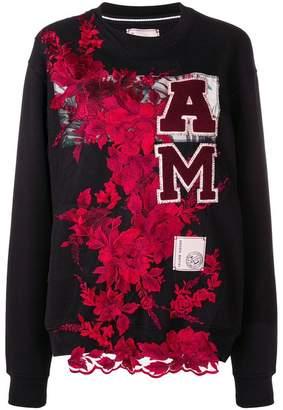 Antonio Marras floral embroidered sweatshirt