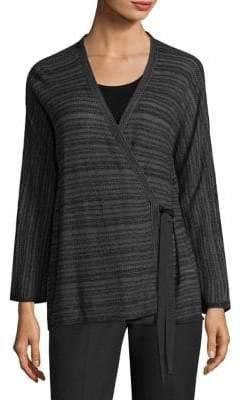 Eileen Fisher Striped Wrap Cardigan