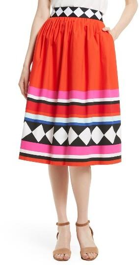 Women's Kate Spade New York Cotton Poplin Midi Skirt