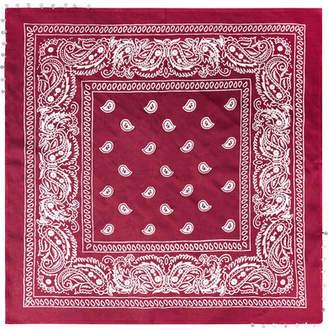 Chan Luu Embellished Printed Gauze Scarf - Red