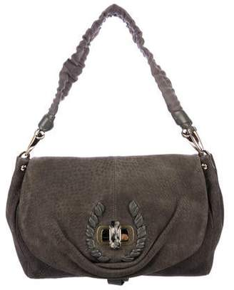 Nina Ricci Suede Ondine Flap Bag
