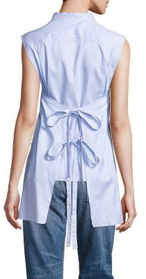 Helmut Lang Striped Apron Back Top $320 thestylecure.com