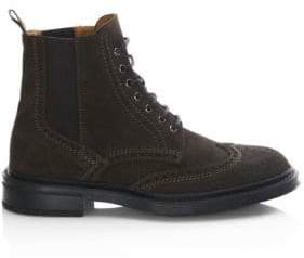 Aquatalia Lawrence Suede Wingtip Boots